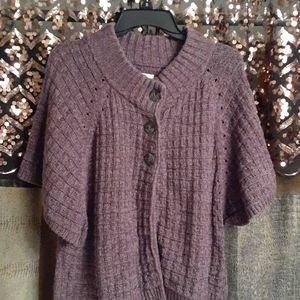 Purple cape style sweater